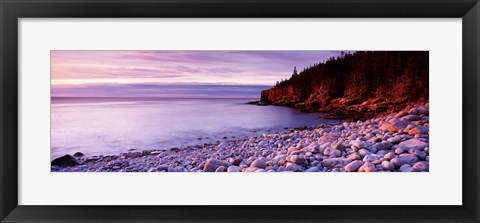 Framed Sunset over the coast, Acadia National Park, Maine Print