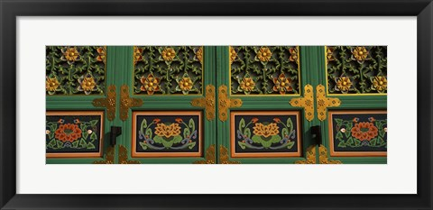 Framed Buddhist temple Paintings, Kayasan Mountains, Haeinsa Temple, Gyeongsang Province, South Korea Print