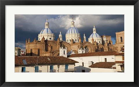 Framed Low angle view of a cathedral, Immaculate Conception Cathedral, Cuenca, Azuay Province, Ecuador Print