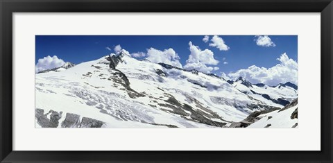 Framed Snowcapped mountains, Grossvenediger, Salzburg, Austria Print