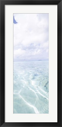 Framed Rippled pattern on blue water surface, Cinnamon Bay, St. John, US Virgin Islands Print
