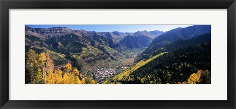 Framed High angle view of a valley, Telluride, San Miguel County, Colorado, USA Print