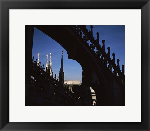 Framed Low angle view of a cathedral, Duomo Di Milano, Milan, Lombardy, Italy Print