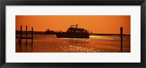 Framed Small yachts in the Atlantic ocean, Intracoastal Waterway, Charleston, Charleston County, South Carolina, USA Print
