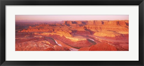 Framed Dead Horse Point at sunrise in Dead Horse Point State Park, Utah, USA Print