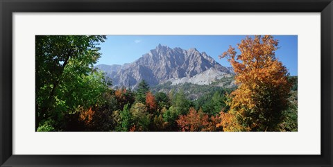 Framed Pelens Needle in autumn, French Riviera, Provence-Alpes-Cote d'Azur, France Print