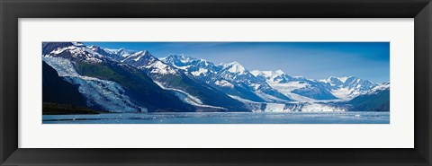 Framed Snowcapped mountains at College Fjord of Prince William Sound, Alaska, USA Print