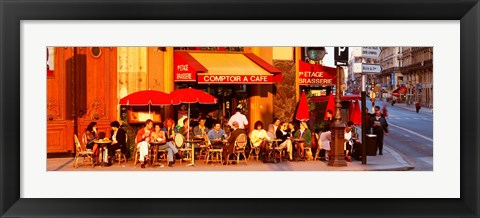Framed Cafe, Paris, France Print