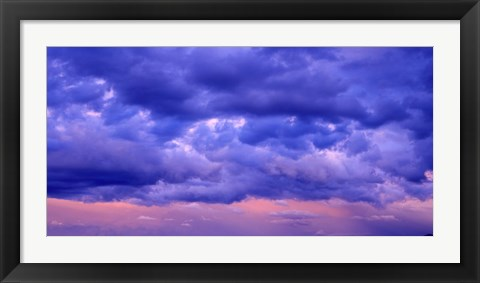 Framed Switzerland, clouds, cumulus, storm Print