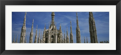 Framed Facade of a cathedral, Piazza Del Duomo, Milan, Italy Print