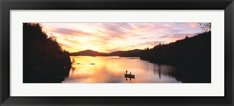 Framed Sunset Saranac Lake Franklin Co Adirondack Mtns NY USA Print