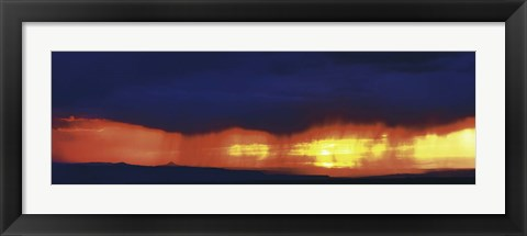 Framed Storm along the high road to Taos Santa Fe NM Print