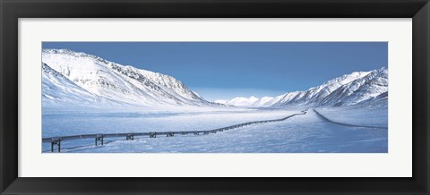 Framed Alaska Pipeline Brooks Range AK Print