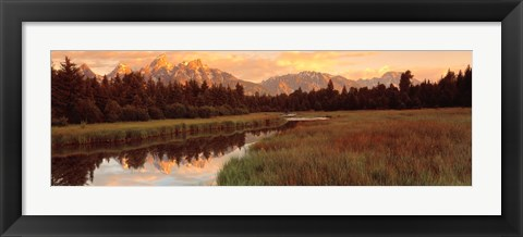 Framed Sunrise Grand Teton National Park, Wyoming, USA Print