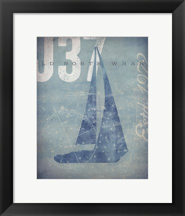 Framed Nautical III Print