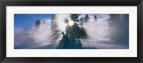 Framed West Thumb Geyser Basin Yellowstone National Park WY Print