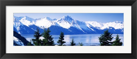 Framed Turnagain Arm Girdwood AK USA Print