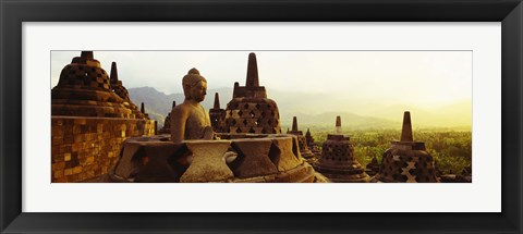 Framed Indonesia, Java, Borobudur Temple Print