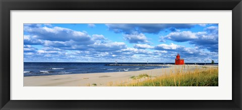 Framed Big Red Lighthouse, Holland, Michigan, USA Print