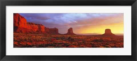 Framed Sunrise, Monument Valley, Arizona, USA Print