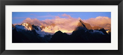 Framed Darren Mtns Fiordland National Park New Zealand Print