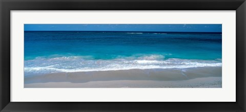 Framed Waters Edge Barbados Caribbean Print
