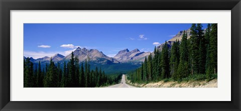 Framed Road In Canadian Rockies, Alberta, Canada Print