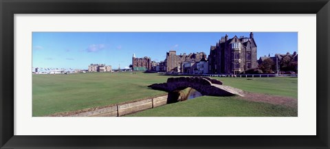 Framed Footbridge in a golf course, The Royal and Ancient Golf Club of St Andrews, St. Andrews, Fife, Scotland Print