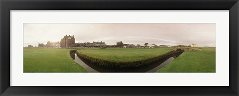 Framed Golf course with buildings in the background, The Royal and Ancient Golf Club, St. Andrews, Fife, Scotland Print
