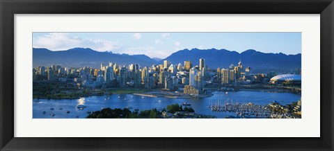 Framed Skyscrapers at the waterfront, Vancouver, British Columbia, Canada Print