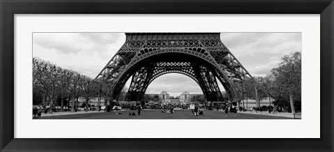 Framed Low section view of a tower, Eiffel Tower, Paris, France Print