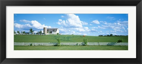 Framed Dairy Farm Janesville, Wisconsin, USA Print