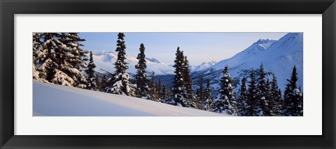 Framed Winter Chugach Mountains AK Print