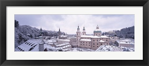 Framed Salzburg in winter, Austria Print