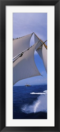 Framed Low angle view of a sailboat's mast Print