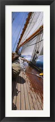 Framed Close-up of a sailboat deck Print