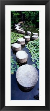 Framed Shrine Garden, Kyoto, Japan Print
