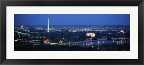 Framed Panoramic view of Washington DC Print