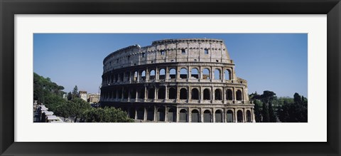 Framed Facade Of The Colosseum, Rome, Italy Print