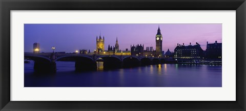 Framed Big Ben, Houses of Parliament, London, England Print