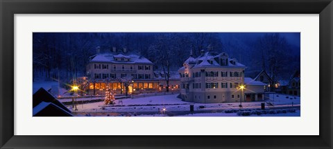 Framed Christmas Lights, Hohen-Schwangau, Germany Print