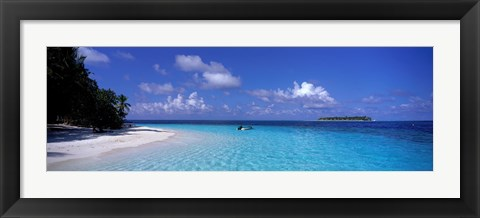 Framed Tropical Beach Ihru Maldives Print