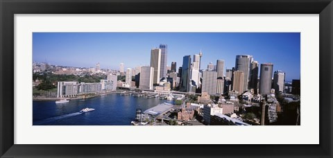 Framed Skyscrapers in a city, Sydney, New South Wales, Australia Print