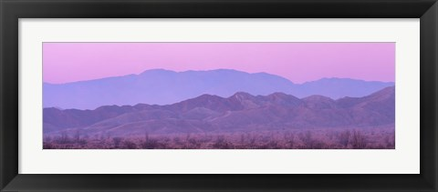 Framed Desert At Sunrise, Anza Borrego California, USA Print