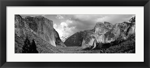 Framed USA, California, Yosemite National Park, Low angle view of rock formations in a landscape Print