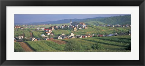 Framed Buildings in a town, Kluszkowce, Tatra Mountains, Poland Print