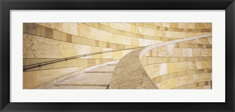 Framed Low Angle View Of A Staircase, Staatsgalerie, Stuttgart, Germany Print