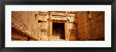 Framed Interiors of Cella the hollies part of a temple, Palmyra, Syria Print