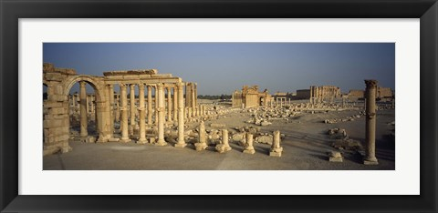 Framed Old ruins of a temple, Temple Of Bel, Palmyra, Syria Print