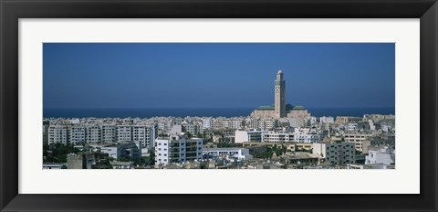 Framed High angle view of a city, Casablanca, Morocco Print
